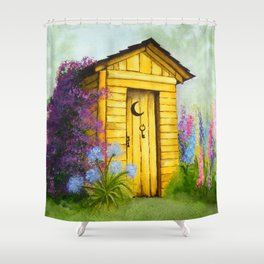 Out in Spring Shower Curtain