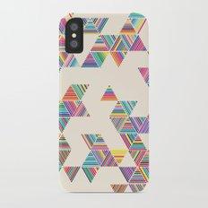 Rainbow Rain Slim Case iPhone X