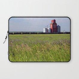 Canadian Prairies Grain Elevator Saskatchewan Laptop Sleeve