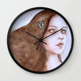Tears and butterflies Wall Clock