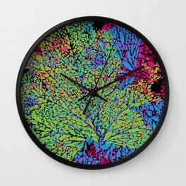 green veins Wall Clock