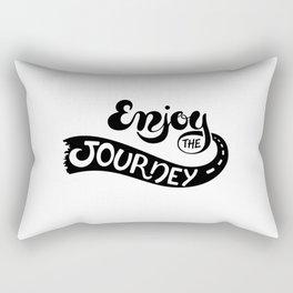Enjoy The Journey(White) Rectangular Pillow