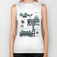 skyfall Biker Tanks featuring Skyfall by Brandon Riesgo