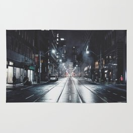 Night street reflect Rug