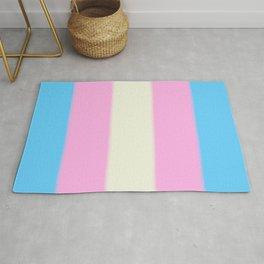 Transgender Pride Flag Rug