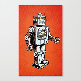 Retro Robot Toy Canvas Print