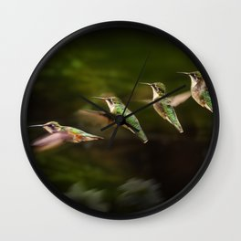 Humming Bird in Flight Wall Clock
