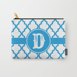 Blue Monogram: Letter D Carry-All Pouch