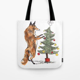 Christmas Fox Tote Bag