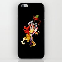 actor iPhone & iPod Skins featuring Cracked Actor (black) by Ashleigh Hungerford