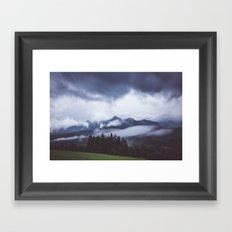Weather break Framed Art Print