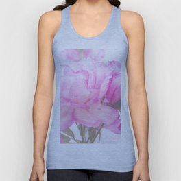 Light Pink Blend Rose #1 #floral #decor #art #society6 Unisex Tank Top