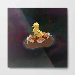 Space Duck Metal Print