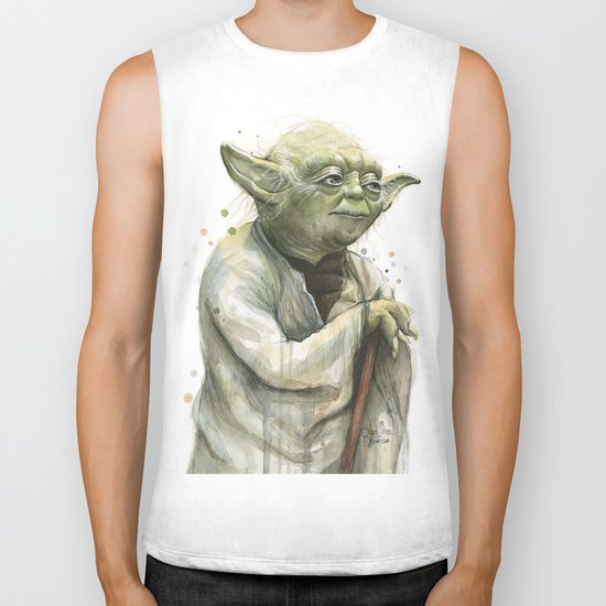 Yoda Jedi Portrait Sci-Fi Biker Tank
