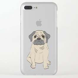 The Sad Pug Clear iPhone Case