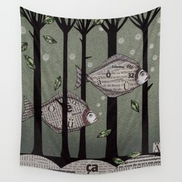 A Fishy Story Wall Tapestry