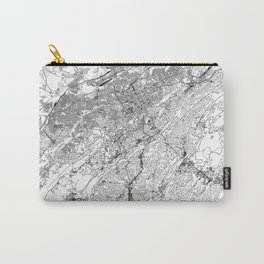 Birmingham White Map Carry-All Pouch