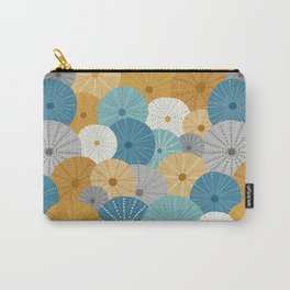 Sea Urchins in Blue + Gold Carry-All Pouch