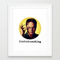 dwight Framed Art Prints featuring Perfectenschlag  |  Dwight Schrute by Silvio Ledbetter