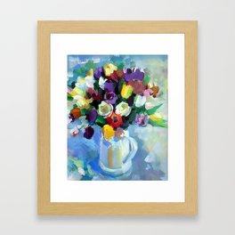 Still LIfe with Tulips Framed Art Print