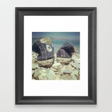 take off your shoes Framed Art Print