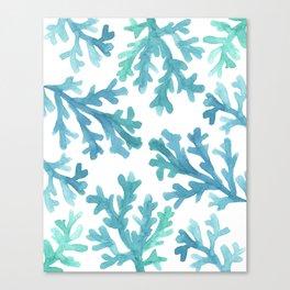 Blue Ombre Coral Canvas Print