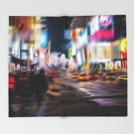 Times square NY Throw Blanket