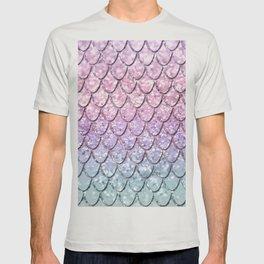 Mermaid Scales on Unicorn Girls Glitter #1 #shiny #pastel #decor #art #society6 T-shirt