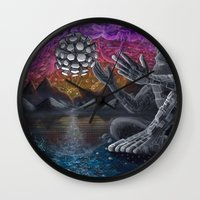 atlas Wall Clocks featuring Atlas by Drake Arnold Art