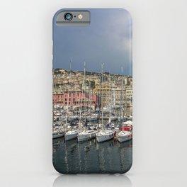Italy Genova Bay Yacht Marinas Sailing Cities Building Pier Berth Houses iPhone Case