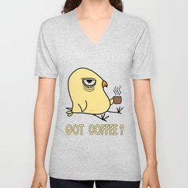 Early Bird Coffee Lover Ornithologist Gift Unisex V-Neck