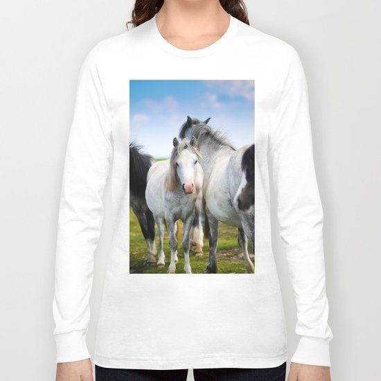 Horses Horses 4 Long Sleeve T-shirt
