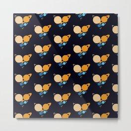 Solar System Heart pattern Metal Print