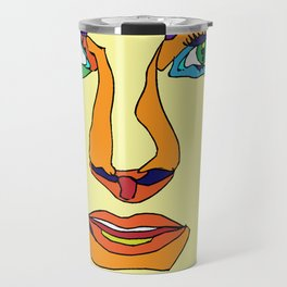 Green and Brown Eyes Travel Mug