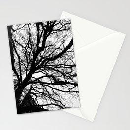 Tree forest wall art, trending minimalist Art, Minimalist, Black and White, Trees simple Stationery Cards