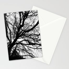 Tree forest wall art, trending minimalist Art, Minimalist, Black and White, Trees simple Stationery Cards