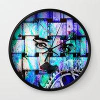chaplin Wall Clocks featuring Chaplin  by Ganech joe