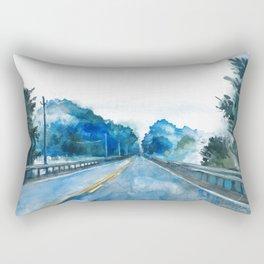 Misty Highway Rectangular Pillow