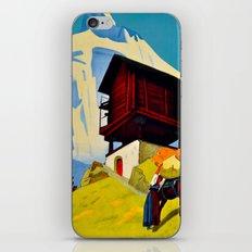 Vintage Valais Switzerland Travel iPhone & iPod Skin