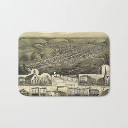 Aerial View of Shenandoah, Pennsylvania (1889) Bath Mat