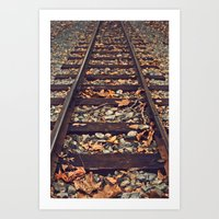 Railroad Track Art Print