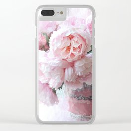 Impressionistic Dreamy Peony Peonies Wall Art Home Decor Clear iPhone Case