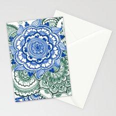 blue-green mandalas Stationery Cards