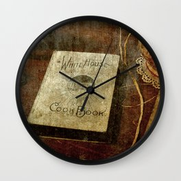 White House Cookbook Wall Clock
