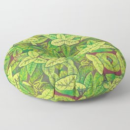 Spring leaves Floor Pillow