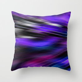 Re-Created  Feather ix by Robert S. Lee Throw Pillow