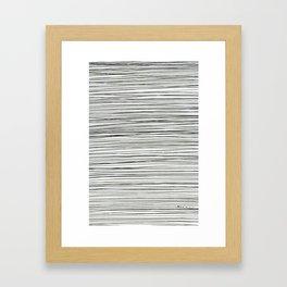 Water -minimalist line drawing Framed Art Print