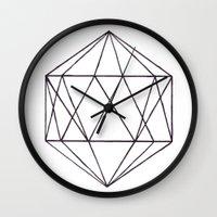 prism Wall Clocks featuring Prism by Bridget Davidson