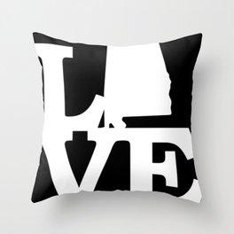 Alabama Pride USA State Love Map Throw Pillow