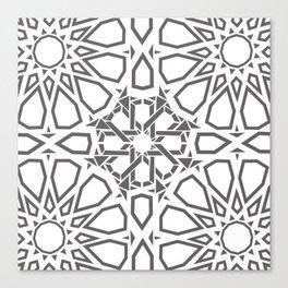 Moroccan Mosaic Gray Canvas Print